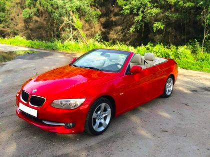 BMW 3 Cabrio Red